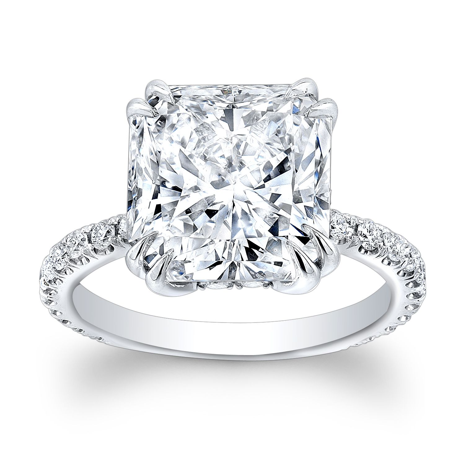rings center platinum round engagement carat diamond gia in ct ring certified sidestones i si solitaire contemporary