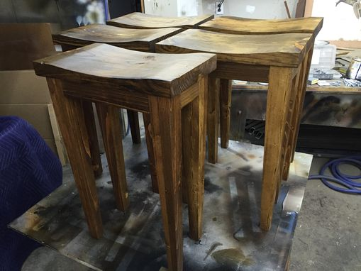 Custom Made Reclaimed Pine Stool