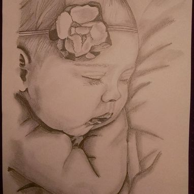 Custom Made Flower Sleeping Babe
