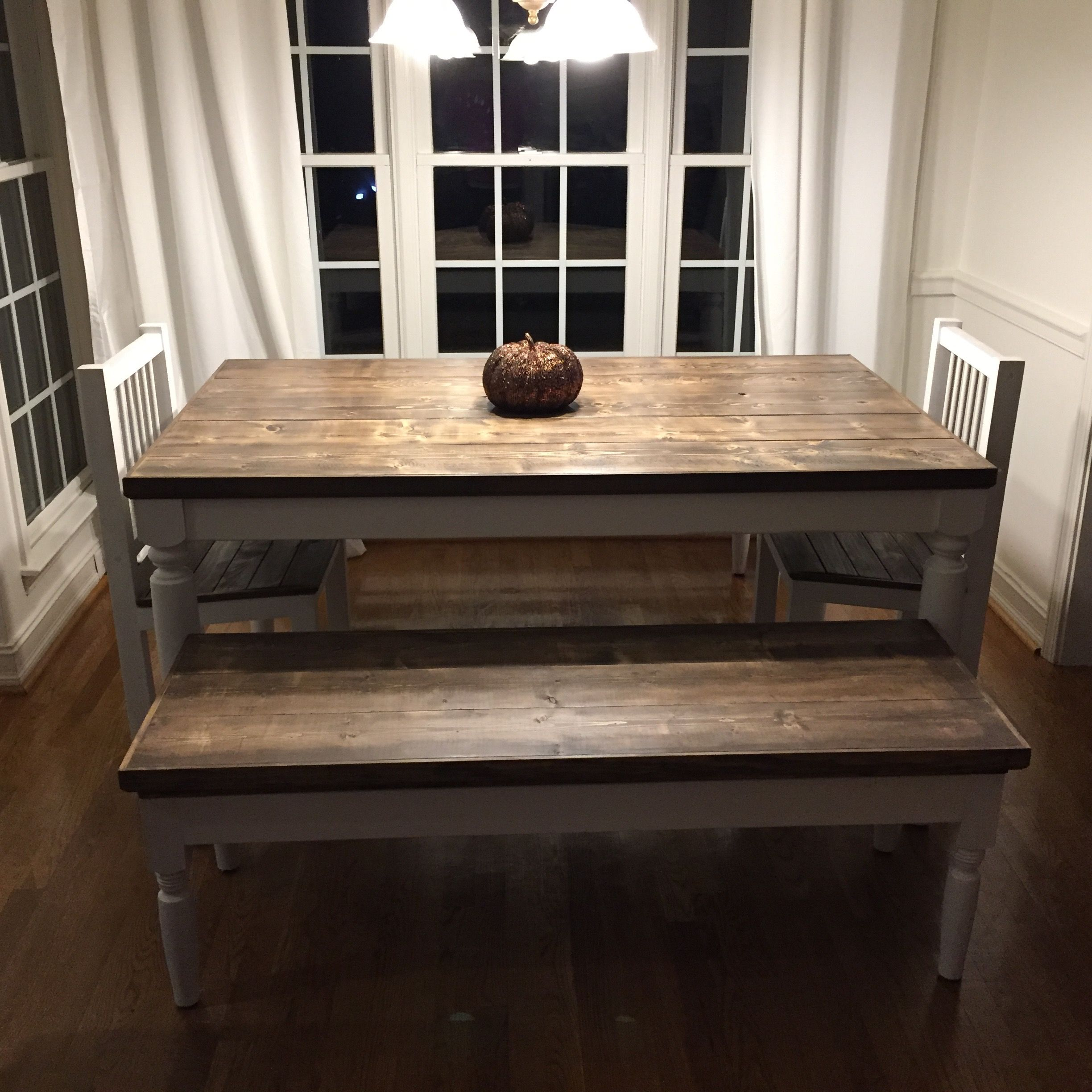 Buy A Handmade Handcrafted Solid Wood Classic Farm Table And Bench