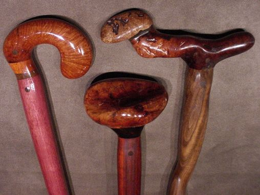 Custom Made Custom Fancy Hardwood Canes