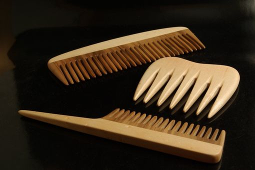 Custom Made Gumwood And Birdseye Maple Combs With Matching Box