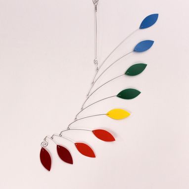 Custom Made Calder Inspired Baby Mobile Sculpture - Rainbow Hanging Mobile - Feng Shui 9