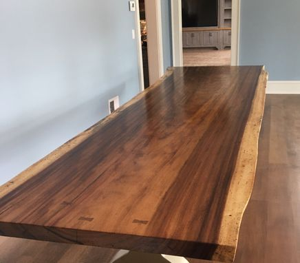 Custom Made Live Edge Ding Table