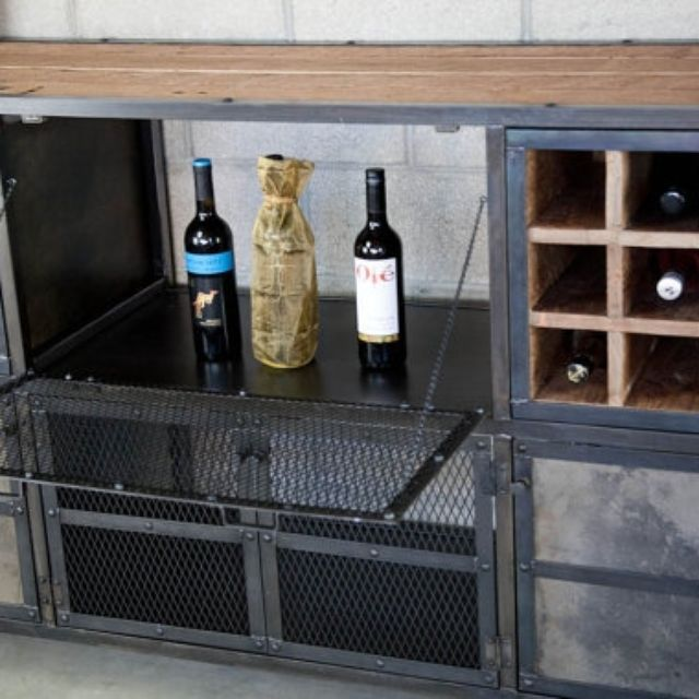 Reclaimed Wood Liquor Cabinet / Bar. Vintage Industrial, Urban Modern  Style. Distressed. - Home Bars And Bar Carts CustomMade.com