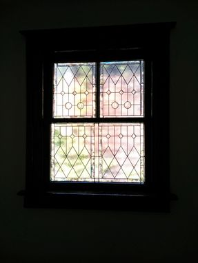"Custom Made Stained Glass Windows - ""Bevels & Privacy"" (W-68)"