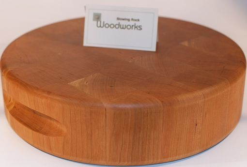 Custom Made Cherry Professional Chopping Block Round Handmade In North Carolina