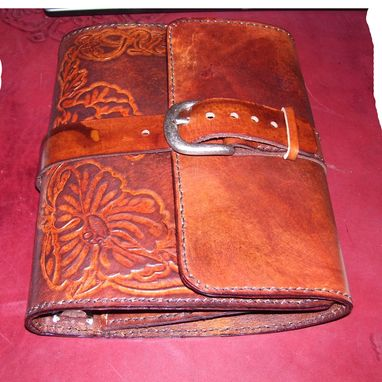 Custom Made Custom Leather Journal With Full Belt & Buckle