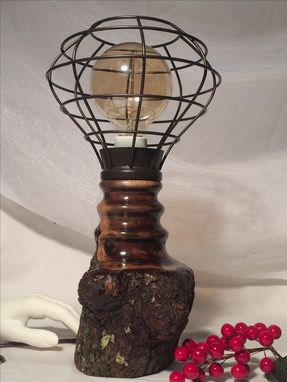 Custom Made Walnut Edison/Tesla Lamp