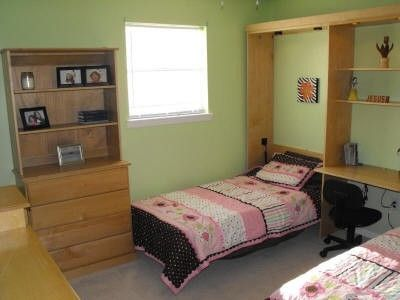 Custom Made Pair Of Murphy Wall Beds