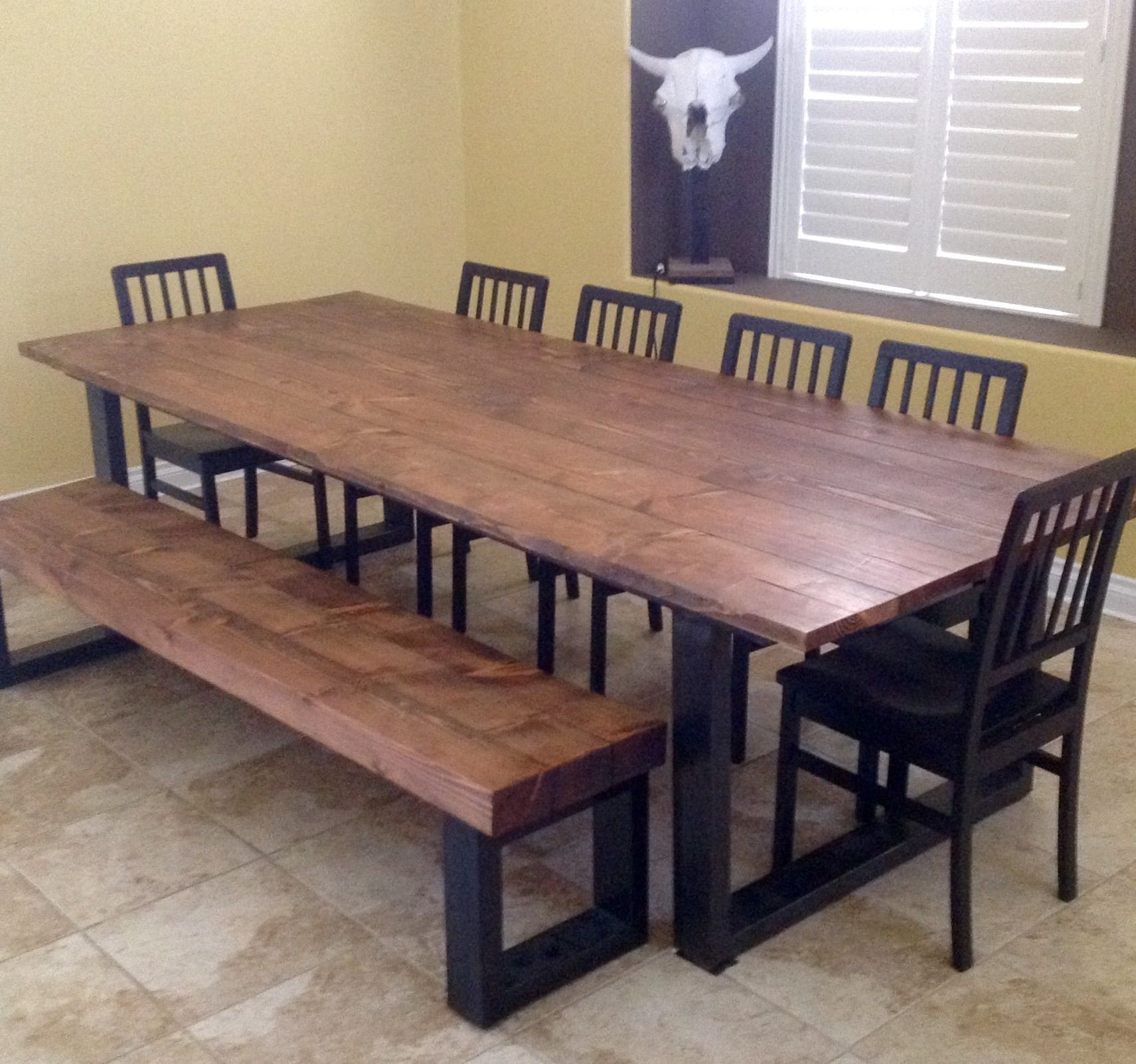 hand made real wood dining table.lonesome burro, llc