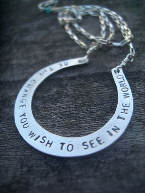 Custom Made Gandhi Sterling Silver Necklace