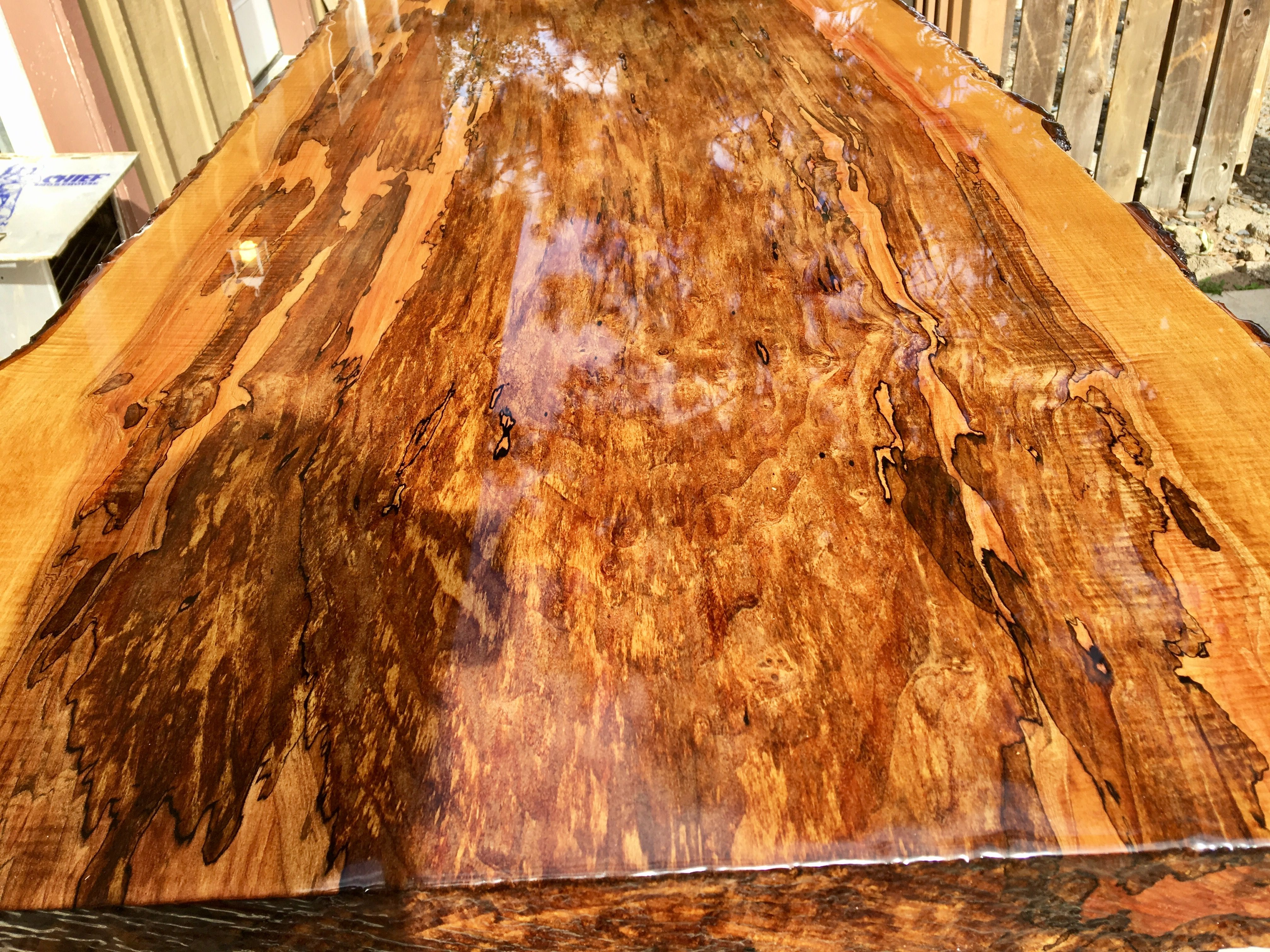 Buy A Handmade Spalted Maple Dining Table Live Edge Made