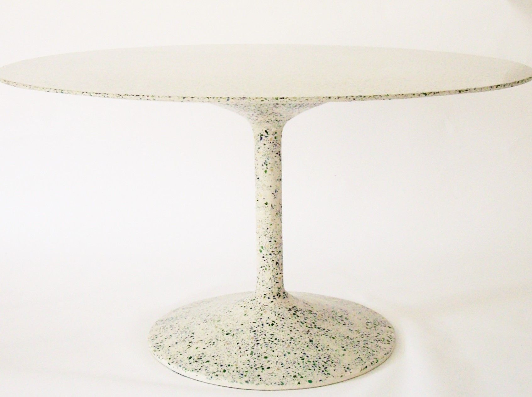 Custom Made Concrete Dining Table With Tulip Base By Castings - Custom tulip table