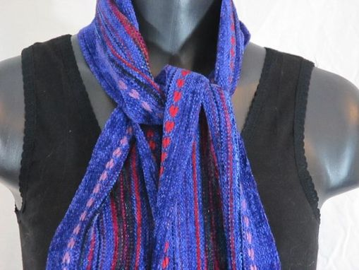 Custom Made Scrumptious Handwoven Chenille Scarf