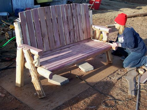 Custom Made Log Bench