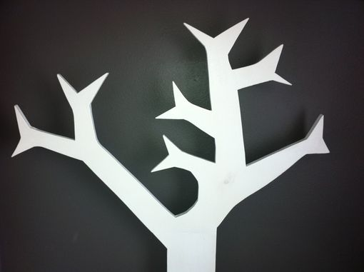 Custom Made Modern Tree Coat Rack - Minimalist Style Unique & Functional Wall Art