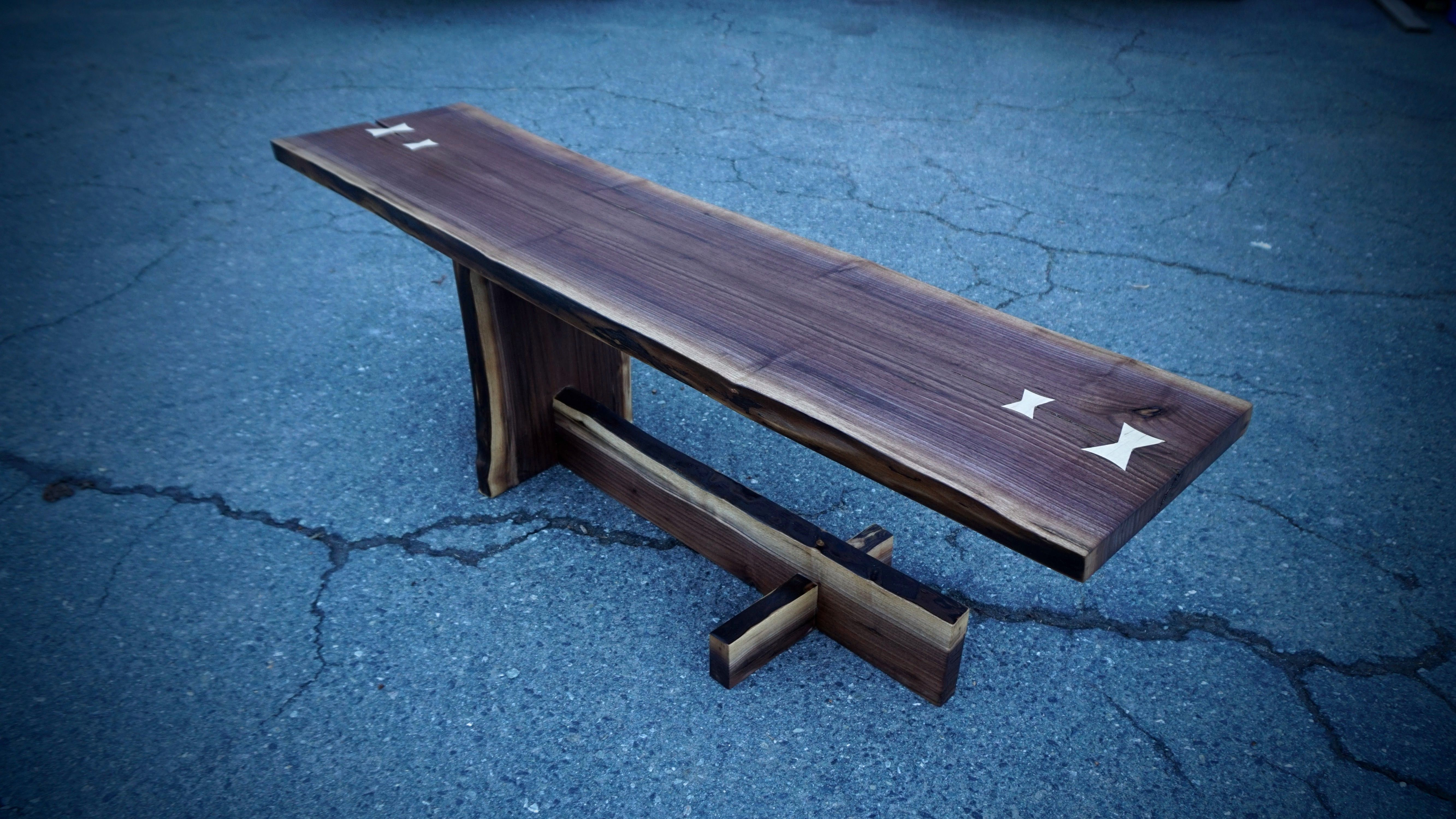 Buy a Custom Made Walnut Cantilever Coffee Table made to order