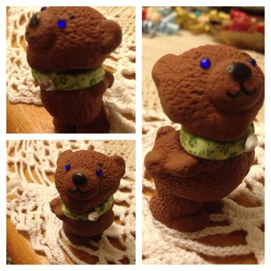 Custom Made Teddy Bear Ooak Miniature Dma Ogld