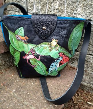 Custom Made Leather Tree Frog Tote Purse