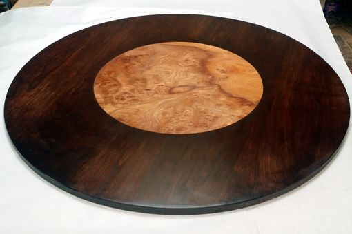 Custom Made Carpathian Elm Burl And Cherry Table Top