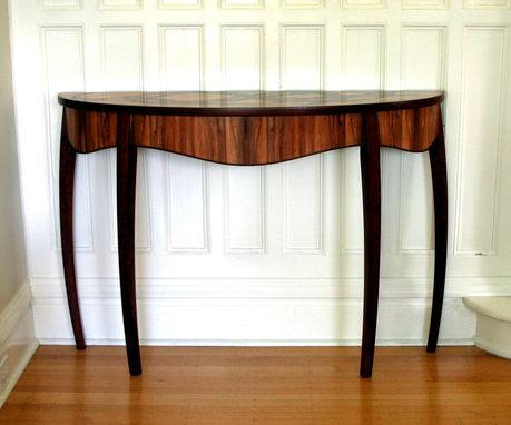 Custom Made Kelp Demilune Table