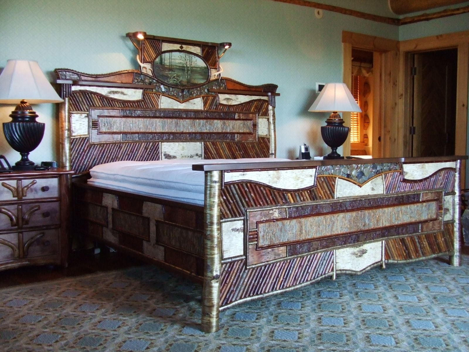 Custom Refined Adirondack Bed By Abiding Branches Custommade Com