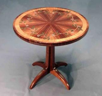 Custom Made Marquetry Side Tables  Special Offer