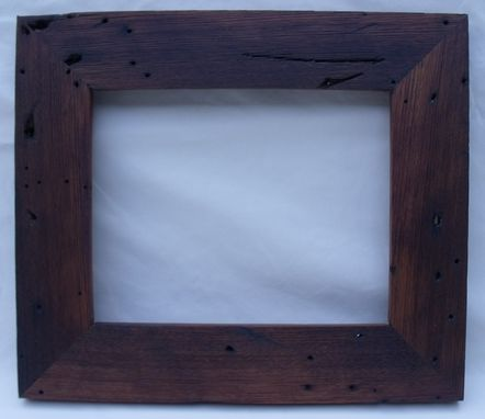 Custom Made Recycled American Wormy Chestnut Picture Frame