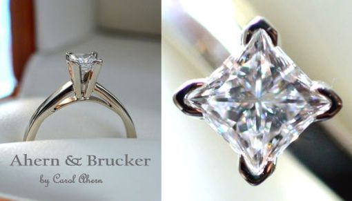 Custom Made 18k Hand Forged Diamond Engagement Ring