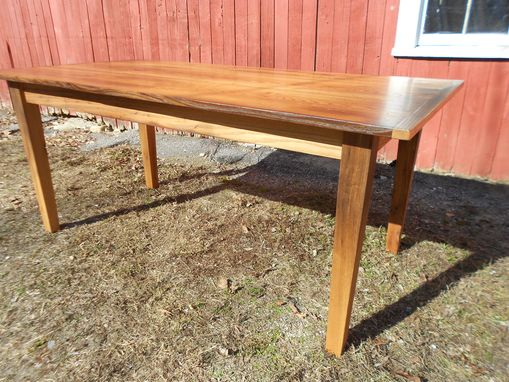Custom Made Reclaimed Chestnut Farmhouse Dining Table
