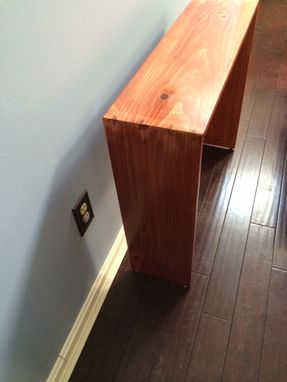Custom Made Simple End Table With Splined Mitered Joint