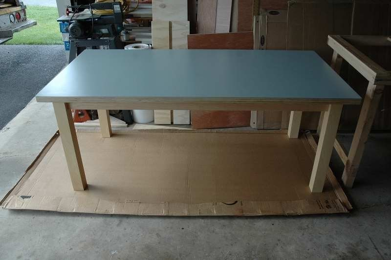 Handmade formica topped table by wooden it be nice for Table formica