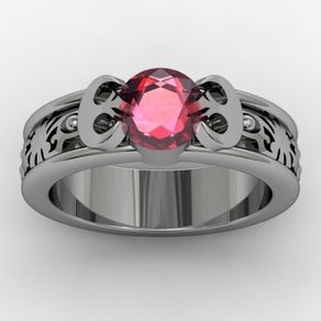 princess leia star wars inspired rebel alliance engagement wedding ring by jasmeen kaur - Star Trek Wedding Ring