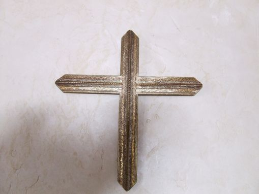 Custom Made Gilded Cross From Antique Picture Frame
