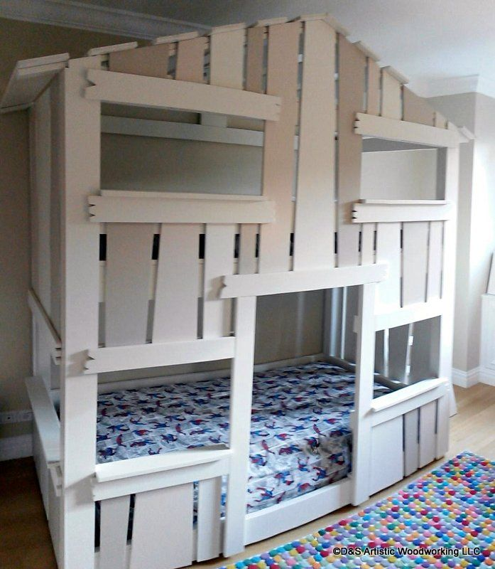 Custom Made Children S House Bunk Bed By D Amp S Artistic
