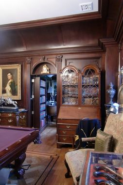 Custom Made Billiard Room & Office In Mahogany