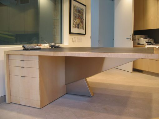 Custom Made Bob Hillier Designed Partner's Desk