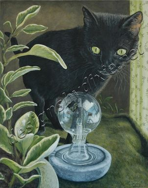 Custom Made Black Cat And A Radiometer