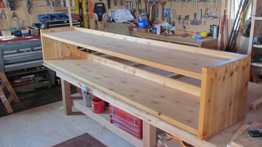 Custom Made Cedar Bench