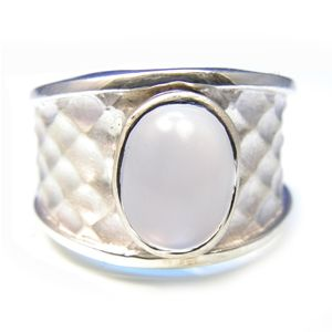 Custom Made Custom™ Collection Light Blue Chalcedony Ring