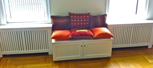 Custom Made Radiator Cover With Window Seat