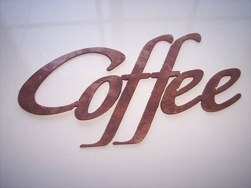 Custom Made Coffee Word Metal Wall Art Kitchen Decor