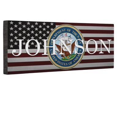 Custom Made Hero Navy With Eagle Flag Canvas Wall Art