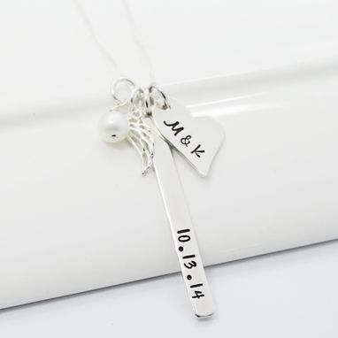 Custom Made Personalized Memory Necklace Hand Stamped With Date