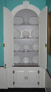Custom Made Half Round China Closets