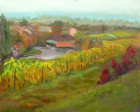 Custom Made Automne Sur Le Route Des Vins - 5 X 7 Greeting Card Reprint
