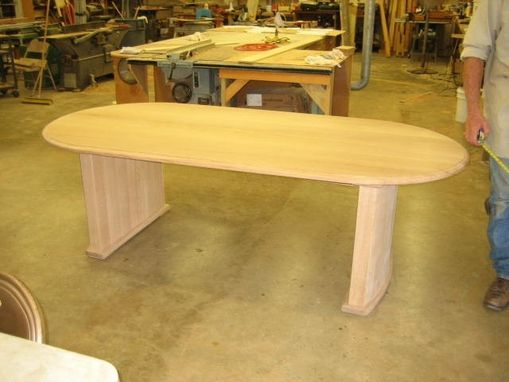 Custom Made Quarter Sawn White Oak Small Conference Table