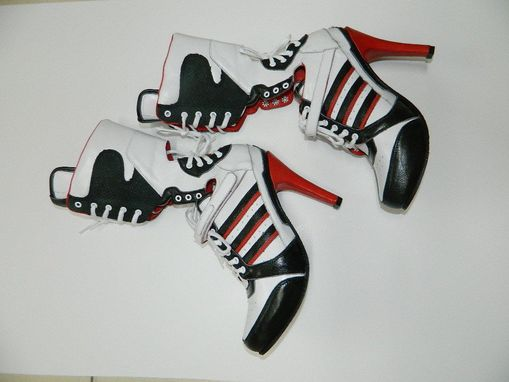 Custom Made Cosplay Boots Harley Quinn Suicide Squad Boots Made In Genuine Leather Made To Order Any Size