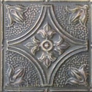Custom Made Pressed Tin Faux Painted Ceiling